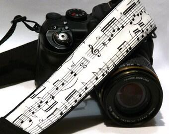 Music Camera Strap. Notes Camera Strap.  DSLR Camera Strap. Canon, Nikon Camera Strap. Women Accessories