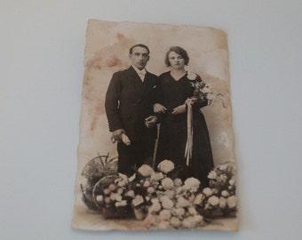 Vintage Wedding Photograph Postcard