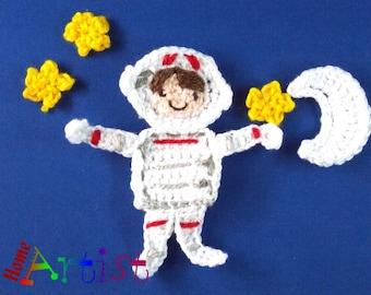Crochet Applique Astronaut