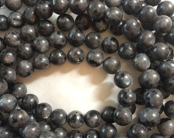 8mm Larvikite Round Beads