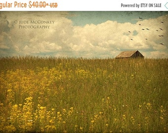 25% Memorial Day Sale Rustic Living Room Decor, Yellow Farmhouse Art, Barn Art, Barn Landscape, Peaceful, Pasture, Country Art. PRINT ONLY
