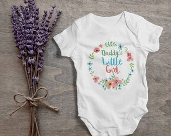 Daddy's little girl baby,funny baby bodysuit,one piece,humor,new born,cute,burp,outfit,game ,baby shower gift,cute daddy baby,gift