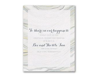 Watercolor Wedding Reception Cards, Sandstone Inspired Wedding Reception Cards, Organic Design By Shell Rummel