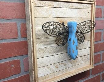 Dragonfly, Rustic Dragonfly, Dragonfly Decor, Dragonfly Wall Art, Housewarming Gift, Farmhouse Style, Farmhouse Decor, Rustic Wall Decor