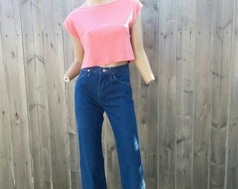 Vintage 80s Espirit Pink Crop Top