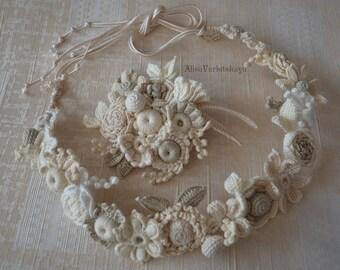 Flower girl halo Hair wreath for girl Floral headpiece Boho flower crown Head wreath Wedding flower crown Flower crown Floral head wreath