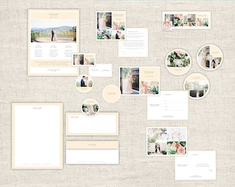 Wedding Photography Marketing Set -  Photographer Branding, Photo Marketing Package, Photoshop Design Templates, INSTANT DOWNLOAD