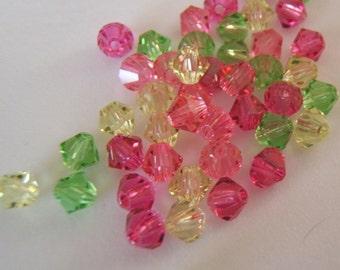 4mm Preciosa Czech Crystals - Fun Tutti Fruity Mix
