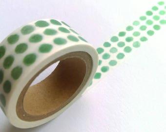 Green Dots washi tape