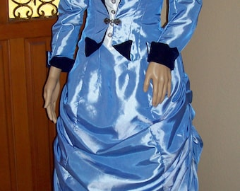 1870's Bustle Dress Made to Order