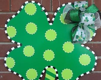 St. Patrick's Day Four Leaf Clover Shamrock Door Hanger