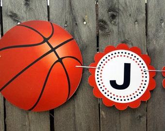 Basketball Banner - Basketball Baby Shower Banner - Basketball Birthday Banner