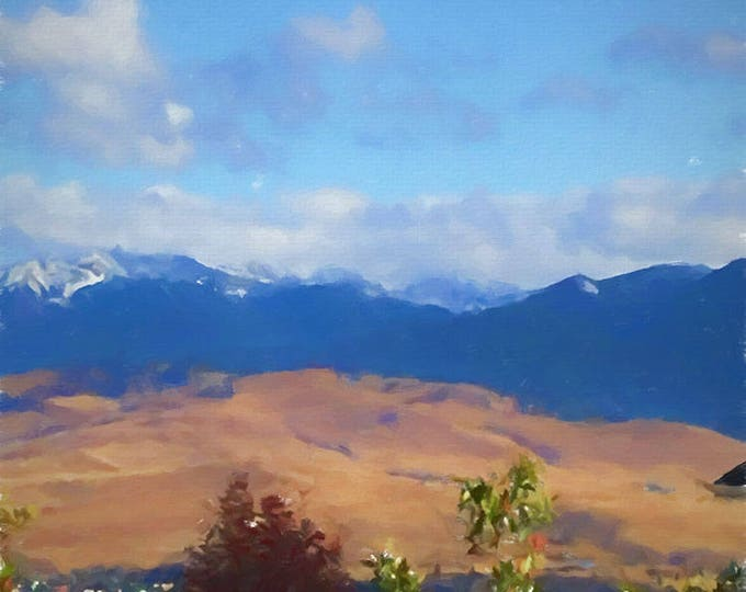 Mountains, Landscape print of Fine Art Paper or Canvas, landscape of  by artist Brenda Salyers