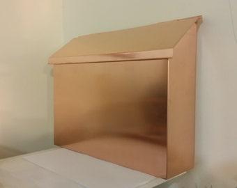 Large Flush Mount Copper Mailbox