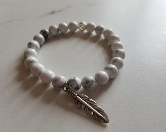 Howlite beaded bracelet/bracelet/healing stones