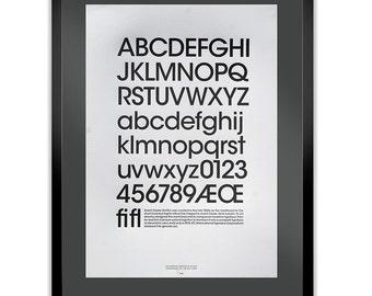 Avant Garde Letterpress Typography Print