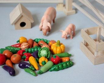 Miniature Food  Toys, Vegetables  20pcs.