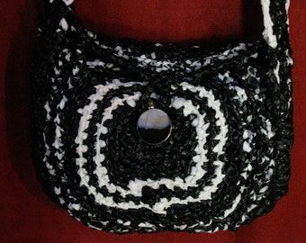 Recycled crocheted plastic bag,Upcycled plastic purse, Reused plastic bag