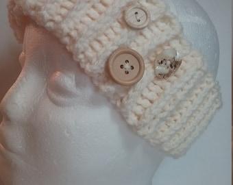 Trendy Ivory Earwarmer Headband