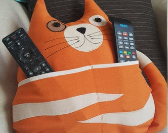 Kitty the TV remote holder