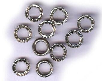 split Vintage fantaisie anneaux argenté fantaisie split jump une douzaine antique anneaux connecteurs en anneaux de jonction