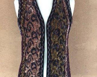 Boho Style Velours Vest