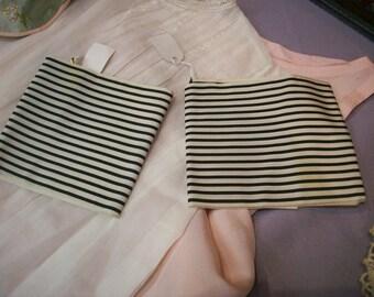 "Rare silk black/white design ribbon 4"""