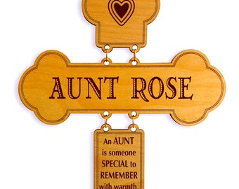 Aunt Mothers Day Gift-Gifts for Aunt Personalized-Aunt Birthday Gift-Aunt Appreciation Gift-Mother's Day Gift-Cross