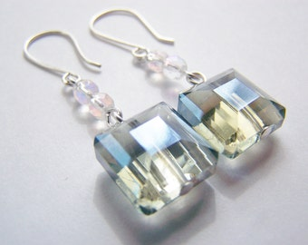 Moments to Steele - Steele Blue Grey Glass Earrings - FREE shipping WAI - affordable earrings -  gift - beach - sale - Summer - Night