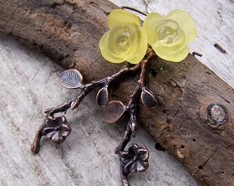 Jonquils || Spring | Yellow Flowers | Twigs | Woodland Wedding | Flower Earrings | Nature Lover | Earthy | Bridesmaid | Earrings under 20