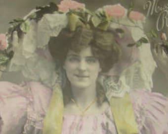 SALE Vintage RPPC Pretty Lady, Theater,Actress