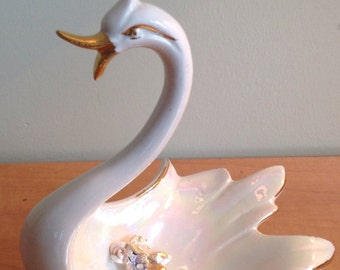Vintage porcelain Swan made in Italy