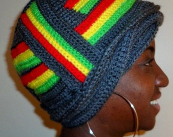 Rasta Girl Dancing, Crochet African Wrap