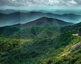The Blue Ridge Mountains | Landscape Photo Art | Nature Gift | Fine Art Photography | Personalization | BDPhotoShoppe | Home Office Decor