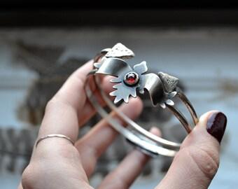 Odin's Raven Huginn Bangle Bracelet - made to order