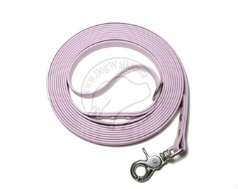 "SPECIAL limited width 5/8"" (16mm) - Pastel Lavender Purple - Waterproof Biothane Long Line - Tacking Line - Choice of hardware and length"