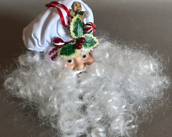 Vintage Santa Ceramic Head Ornament
