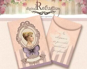 fragrance sachet/ Digital Collage Sheet / Instant Download/flowers/ printables/ pastel pink