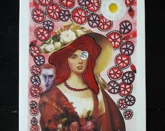 "Postcard ""L'amoureuse II"""