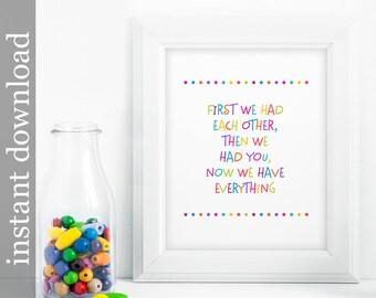 Colorful Nursery, Nursery Printable, Nursery Decor, Baby room decor, colorful baby art, nursery Quote Art, nursery wall art, children's art