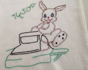 Vintage  Tuesday Dishtowel
