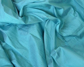 Silk Dupioni in Steel Blue with grey shimmers, Extra wide 54 inches, Half yard ADEX 176