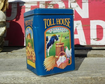 Vintage • Nestle Toll House Cookies Limited Edition Morsels Collectible Tin | Storage Cookies | Metal