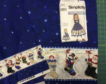 Daisy Kingdom Girls Dress Pattern with 4.5 yards fabric.