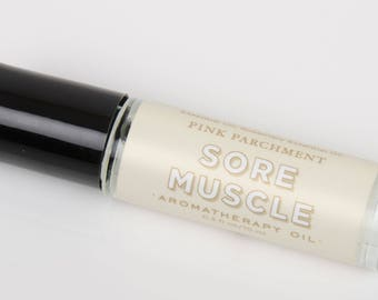 Sore Muscle Aromatherapy Roll On - All Natural - Essential Oil