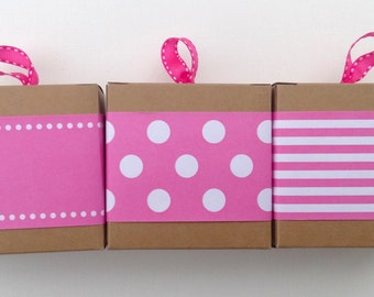 New Hot Pink Paper Ribbon in Pattern of Your Choice