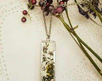Broken China necklace. Broken China jewelry. Broken China pendant.