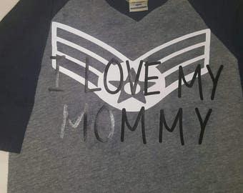 I Love My Mommy Airforce Raglan
