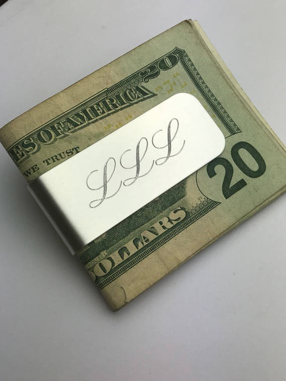 Personalized Money Clip | Groomsman Gifts | Aluminum Custom Engraved | Wedding Party | Groom Gift | Father of the Bride or Groom