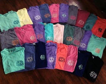 LONG SLEEVE Comfort Colors| Comfort Colors TShirt, Monogram Comfort Colors Tee, Personalized Comfort Colors, Gifts for Friends